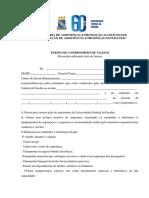 Termo de Compromisso de Viagem Em Ônibus Institucional - Prape - Ufpb 60 Anos