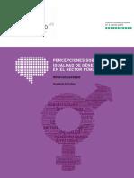 NovaGob Estudios Percepciones Igualdad Género