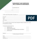 Drainage Stormwater Checklist
