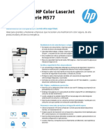 243 Ficha Tecnica Multifuncion HP Color LaserJet Enterprise M577 Serie