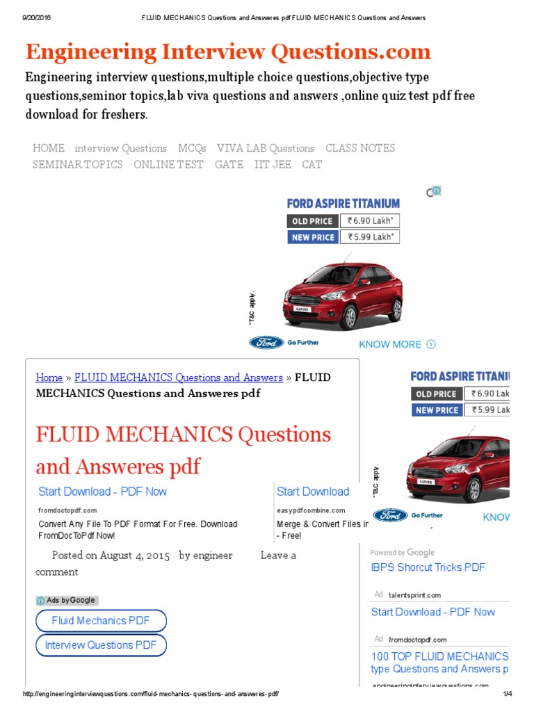 fluid mechanics questions and answeres pdf fluid mechanics fluid mechanics questions and answeres pdf fluid mechanics questions and answers