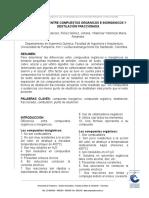 Informe Diferencia Entre Compuesto Organico E Inorganico y Destilacion Fraccionada