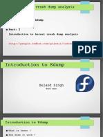 Kdump FUDcon 2015 Session