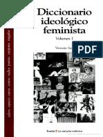 Diccionario Ideológico Feminista Vol 1