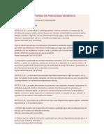 Normas Regulatorias de Publicidad en Mexico