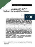 La renacionalización de YPF. Una mirada alternativa del Informe Mosconi
