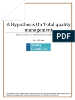 A Hypothesis on Total Quality Management