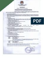 1. Pengumuman Pendaftaran Relasi Pilkada Banten 2017