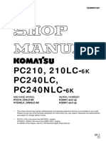 PC240LC, 240NLC-6K _ K32001 and _ up PC210, 210LC-6K  _K32001 and upEEBD001801