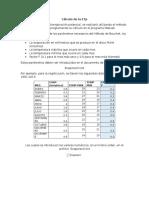 Cálculo de La ETp