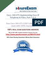 Pass4sure 300-075 Exam Dumps