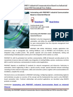 Automating With PROFINET Industrial Communication Based on Industrial Ethernet PDF Download Free Online