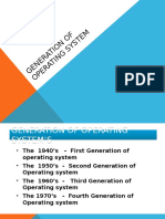Generation of Operating Sstem