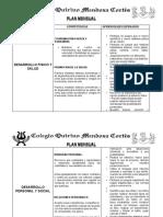 Plan Mensual Preescolar Qmc