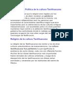 Organización Política de La Cultura Teotihuacana