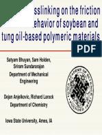 Bio-based polymer (crosslinked)
