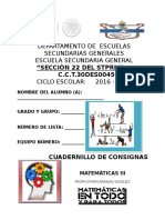 CUAD. DE CONSIGNAS 2016-2017  MATE 3° BARAJAS