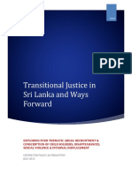 Transitional Justice in Sri Lanka and Ways Forward