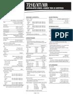 Ficha Tecnica Cargador Case 721E XT XR Articulated Wheel Loader Spec Sheet (Tier III)