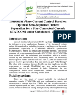 Individual Phase Current Control Based on Optimal Zero-Sequence Current Separation for a Star-Connected Cascade STATCOM Under Unbalanced Conditions