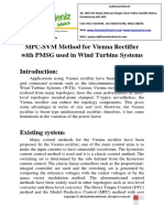 MPC-SVM Method for Vienna Rectifier With PMSG Used in Wind Turbine Systems
