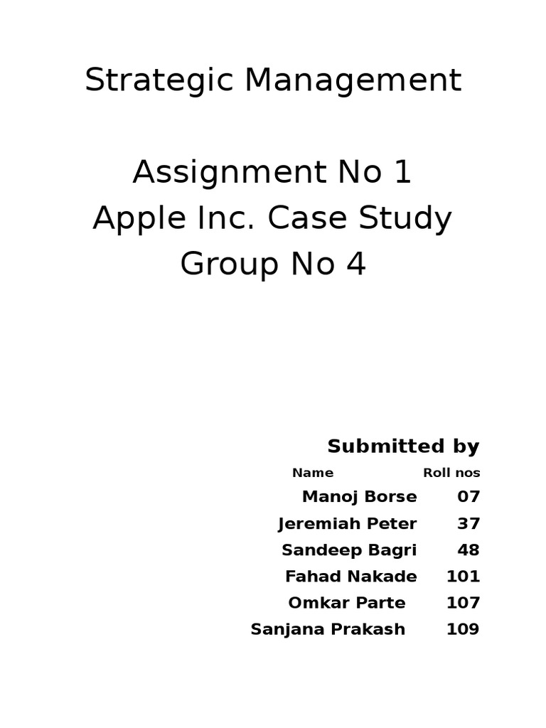Apple Case Study- Group 4 | Apple Inc  | Macintosh