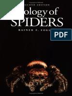 Biology of Spiders - Rainer F. Foelix