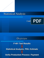 Statistical Analysis Outliers