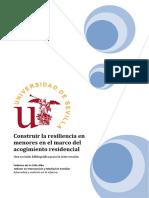 Construir La Resiliencia en Menores Dentro Del Contexto Del Acogimiento Residencial
