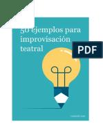 50 Ejemplos Para Improvisación Teatral