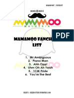 Mamamoo Fanchant List