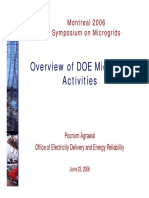 Overview of DOE Microgrid Activities