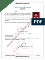 Engineering Mechanics Vectors