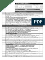 Job Site Safety Checklist