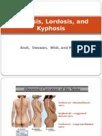 Scoliosis, Lordosis, And Kyphosis