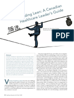 Leading Lean - A Canadian Healthcare Leader's Guide