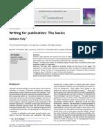 Writing Publications Thebasics