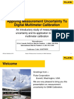 Uncertainty Presentation Digital Multimeter