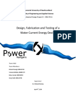 Design Fabrication and Testing of a Water Current Energy Device