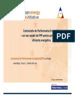 Corneliu Rotaru Contractele de Performanta Energetica– Un Nou Model de PPP Pentru Proiectele de Eficienta Energetica Compatibility Mode