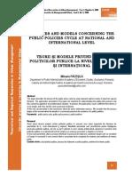 Teorii Si Modele Privind Ciclul Politicilor Publice La Nivel National Si International