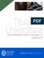 Curso Universitario en Derecho Tecnológico + 4 Créditos ECTS