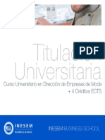 Curso Universitario en Dirección de Empresas de Moda + 4 Créditos ECTS