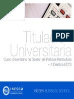 Curso Universitario de Gestión de Políticas Retributivas + 4 Créditos ECTS
