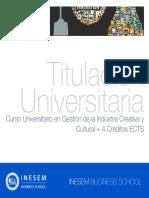 Curso Universitario en Gestión de la Industria Creativa y Cultural + 4 Créditos ECTS