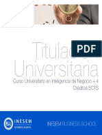 Curso Universitario en Inteligencia de Negocio + 4 Créditos ECTS