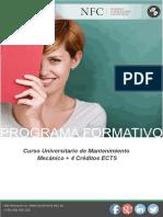 Curso Universitario de Mantenimiento Mecánico + 4 Créditos ECTS