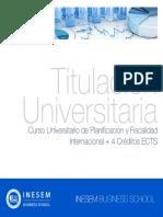 Curso Universitario de Planificación y Fiscalidad Internacional + 4 Créditos ECTS