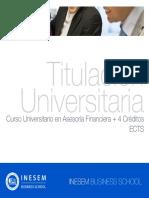 Curso Universitario en Asesoría Financiera + 4 Créditos ECTS