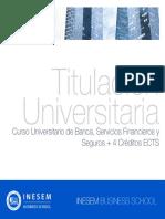 Curso Universitario de Banca, Servicios Financieros y Seguros + 4 Créditos ECTS
